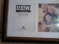 Brown wood frame 14/20 two pictures