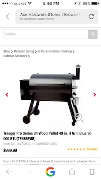 Traeger Grill Newer and garage kept. A must for all chiefs, inspiring chiefs, or those who think they are. Mundelein, 60060