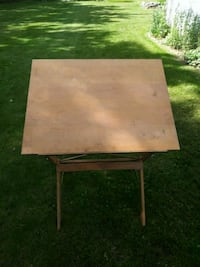 Vintage drafting table made of wood