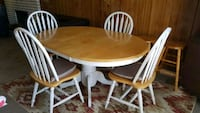 round brown and white wooden dining table set Surrey, V3V 1Y3