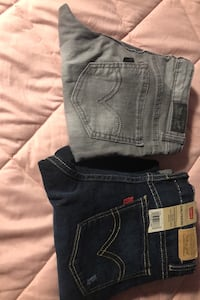 Girls pants grey ones are size 12 and the dark blue ones are size 14  Oxnard, 93033