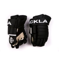 "Black Tackla hockey gloves size 10"",11"",12"",13"""