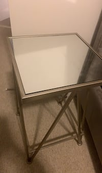 Silver mirrored side table  Toronto, M8V