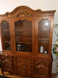 Moving must sell....Solid wood china cabinet with Kitchener, N2A 1T1