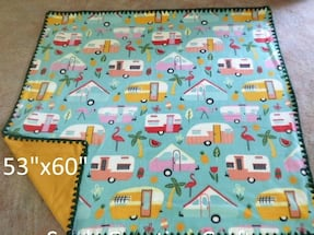 Camper print 4'x5' Fleece throw/lap fleece blankets  Sale 25.00 (reg 40)