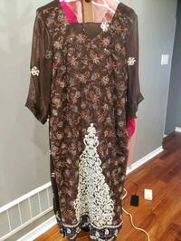brown and white floral long sleeve dress Markham, L3S 2T3