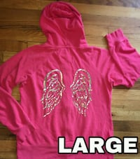 pink and white pullover hoodie Des Moines, 50315