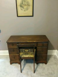Varry old desk and chair