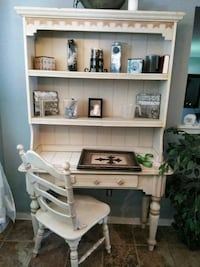 white and brown wooden desk with hutch Snellville, 30078