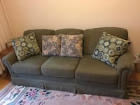Olive green fabric 3-seat sofa Mississauga, L5B 1E9