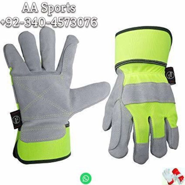 Turkey style palm working  gloves, welding gloves, 707gloves, yellowcolors, redcolors,