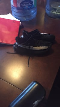 Pair of black-and-white yeezy Calgary, T1Y 4X9