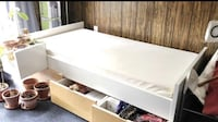 IKEA Twin Bed Frame with 3 storage compartments