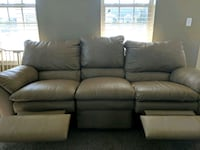 Double reclining leather sofa beige Mukwonago, 53149