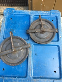 Antique Heavy Pulleys 6 inch Northwood, 03261