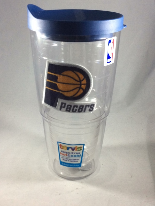 White and blue Pacers Tervis Tumbler NEW