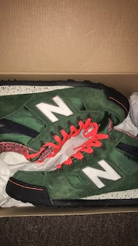 pair of green-and-black Adidas basketball shoes Montclair, 07042