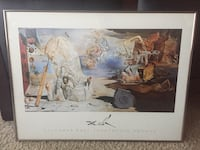 Salvador Dali - L'Apotheose D'Homer. Glass Metal Framed Print