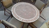 round white and gray table Tempe