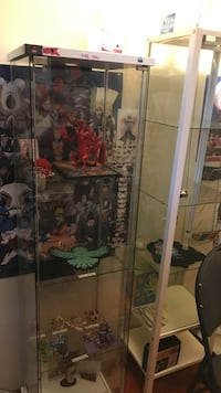 Two glass display cases 100 each plz or 150 for both  Surrey, V3S 8B1