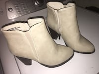 white/creamy ankle booties (5.5) Westminster, 92683