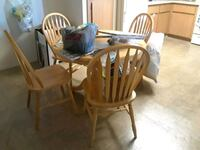 brown wooden windsor chair and table Mesa, 85210