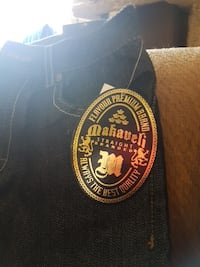 blue Makaveli denim bottoms.. brand new with tags