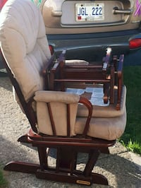 brown wooden framed glider chair Mount Pearl