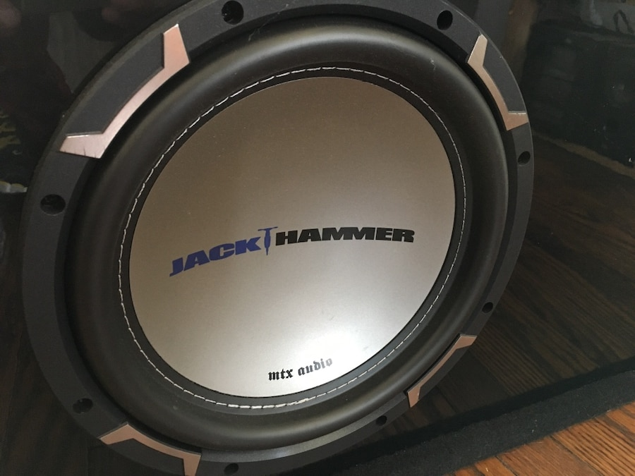 Used mtx audio jack hammer 10 subwoofer vented box jh5510d in more info publicscrutiny Gallery