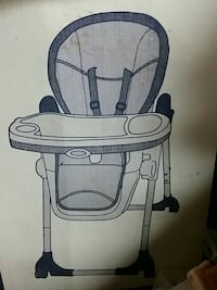 baby's gray and black highchair in the box Springfield