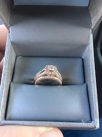 Rose gold engagement and bridal set from zales. $3,000 value Lake Charles, 70611