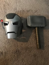 Mask and hammer toys