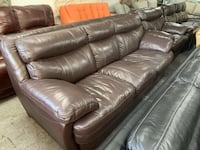Brown Plush Leather Sofa And Chair Set Jacksonville, 32218