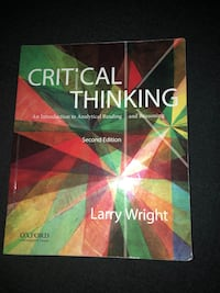 Critical thinking Wright second edition philosophy book Corona, 92883