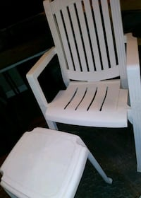 Patio chair and table heavy duty plastic 25