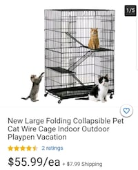 Cat cage play pen
