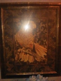 brown wooden framed painting of brown flowers St. Louis, 63109