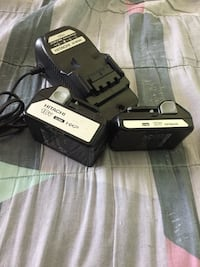 Hitachi battery and charger combo.