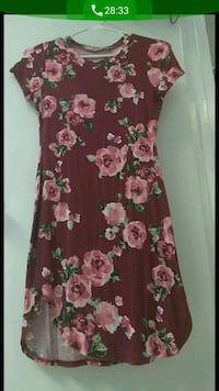 women's red and white floral dress South Gate, 90280