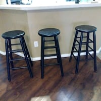 two black wooden bar stools Crowley, 76036