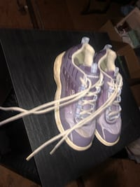 Purple bowling ball and shoes