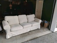 white fabric 3 seat sofa Seattle, 98144