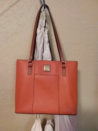 orange leather tote bag Victoria, V9A 3M5