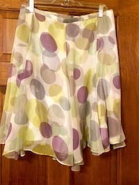 Multi colored flair skirt knee length lined size 8 Randolph