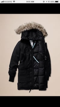 black zip-up parka jacket Vaughan, L4H