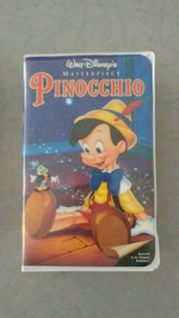 Pinnochio on vhs