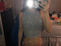 striped open back crop top (small) Vaughan, L4K 5W4