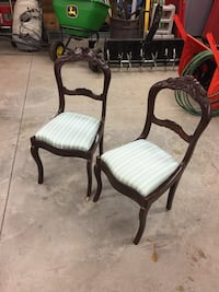 Two brown antique side chairs  Hamilton, L8B 1T5