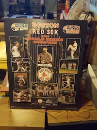 2007 Red Sox WS wood poster