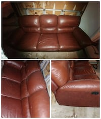 brown leather recliner sofa chair Toronto, M1S 4H7